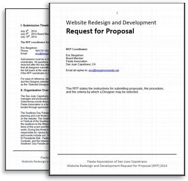 Simply Great Websites | Request For Proposal | RFP